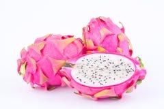 Fresh   organic dragon fruit dragonfruit or pitaya on white background healthy dragonfruit food isolated Stock Photos