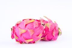 Fresh   organic dragon fruit (dragonfruit) or pitaya on white background healthy fruit food isolated Royalty Free Stock Image