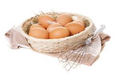 Fresh organic eggs Royalty Free Stock Photography