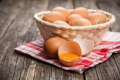 Fresh organic eggs Stock Photography