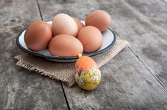 Fresh organic eggs Stock Photo