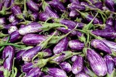 Fresh organic fairytale eggplant background, photo taken at loca Stock Photos