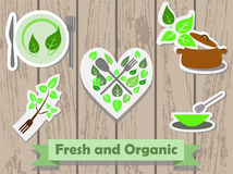 Fresh and organic food, eco food concept Royalty Free Stock Image