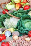 Fresh organic food Stock Images
