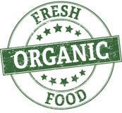 Fresh organic food round stamp. Round stamp in retro style Royalty Free Illustration