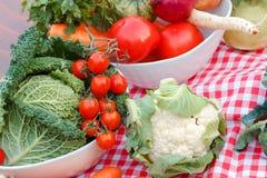 Fresh organic food - vegetables Royalty Free Stock Photos