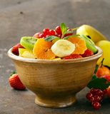 Fresh organic fruit salad Stock Image