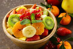 Fresh organic fruit salad Stock Images