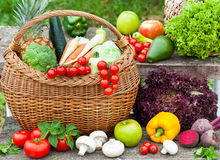 Fresh organic fruit and vegetables Stock Photography