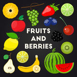 Fresh organic fruits and berries Royalty Free Stock Image