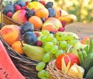 Fresh organic fruits Royalty Free Stock Photography