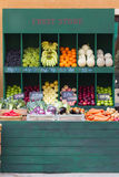 Fresh organic Fruits and vegetables. In market Royalty Free Stock Photo