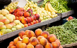 Fresh Organic Fruits and Vegetables Stock Images