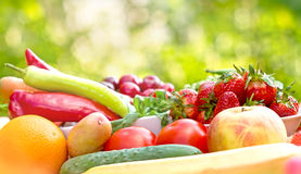 Fresh, organic fruits and vegetables Stock Photos