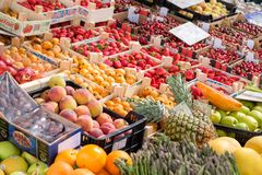 Fresh organic fruits and vegetables. Stock Photo