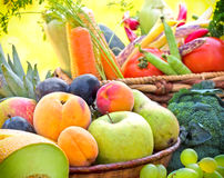 Fresh organic fruits and vegetables Stock Photography