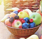 Fresh organic fruits Stock Photos
