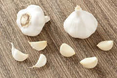 Fresh Organic Garlic Cloves. On a background Royalty Free Stock Images