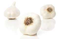 Fresh Organic Garlic Cloves. On a background Royalty Free Stock Photography