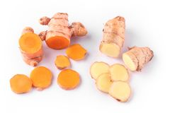 Fresh and organic ginger and turmeric roots Royalty Free Stock Image