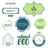 Fresh, organic, gluten free, 100% bio, premium quality, locally. Grown, healthy food natural products, farm fresh stickers. Vector menu organic labels, food Vector Illustration