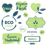 Fresh, organic, gluten free, 100% bio, premium quality, locally. Grown, healthy food natural products, farm fresh stickers. Vector menu organic labels, food Royalty Free Stock Photo