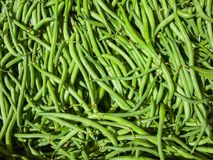 Fresh organic  Green Beans background,  in  country fair market Stock Photography
