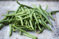 Fresh, organic green beans. Fresh picked organic, healthy green beans Stock Images