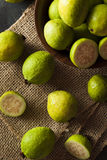 Fresh Organic Green Guava Stock Photo