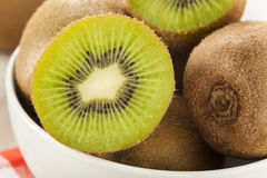 Fresh Organic Green Kiwi Stock Photography