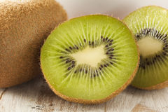 Fresh Organic Green Kiwi Stock Images