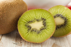 Fresh Organic Green Kiwi Stock Photo