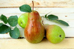 Fresh organic green pear Royalty Free Stock Images