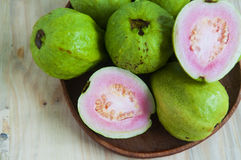 Fresh organic guava fruit. On the table Stock Image