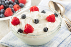 Fresh Organic Healthy Yogurt Stock Photos