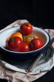 Fresh organic heirloom tomatoes Royalty Free Stock Image