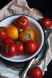 Fresh organic heirloom tomatoes Stock Photography