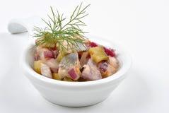 fresh organic herring salad Stock Photo