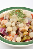 fresh organic herring salad  in a bowl Stock Image