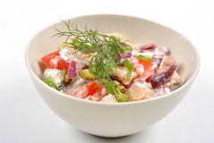 Fresh organic herring salad with tomato. Some fresh organic herring salad with tomato stock photo