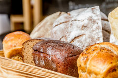 Fresh organic home-made bread Royalty Free Stock Photos