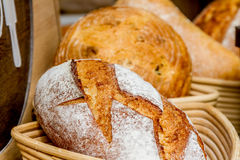 Fresh organic home-made bread Royalty Free Stock Images