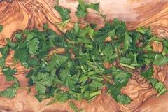 Fresh organic italian parsley Stock Image