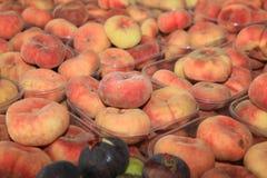 Fresh organic italian Peach Stock Images
