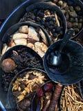 Fresh organic jadi bution street market stall Stock Image