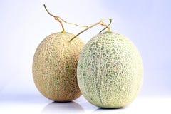 Fresh organic Japanese melon isolated on white background Royalty Free Stock Image