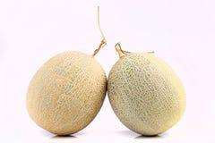 Fresh organic Japanese melon isolated on white background Royalty Free Stock Photography