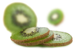 Fresh organic kiwi fruit Royalty Free Stock Images