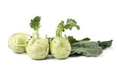 Fresh organic kohlrabi. Isolated on white Royalty Free Stock Image