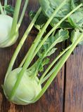 Fresh, organic kohlrabi Royalty Free Stock Images
